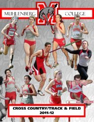 MUHLENBERG Cross Country and Track & field, 1999 - 2011