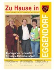 3. Gruppe feierlich eröffnet Seite 11 - Gemeinde Eggendorf