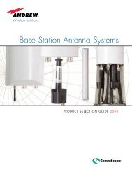 Base Station Antenna Systems 2008 Product Selection Guide - AVW