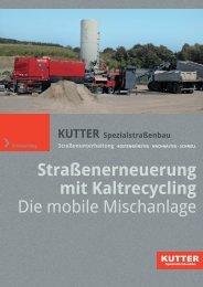 mobile Mischanlage - KUTTER Spezialstraßenbau GmbH & Co. KG