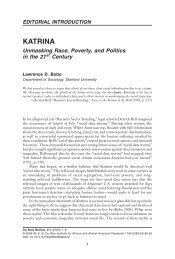 KATRINA: Unmasking Race, Poverty, and Politics in the 21st Century