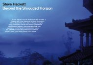 Steve Hackett feature - Hallowed.se