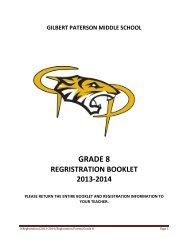 Gr 8 Option Bklt 2013-2014 - Gilbert Paterson Community School