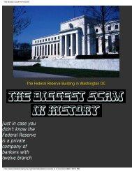 THE BIGGEST SCAM IN HISTORY - Macquirelatory.com