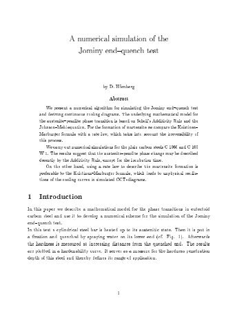 A numerical simulation of the Jominy end{quench test 1 ... - WIAS