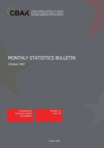 Monthly Statistics Bulletin 01 October 2007