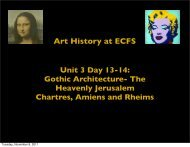 Art History at ECFS Unit 3 Day 13-14: Gothic Architecture