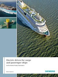 Electric drives for cargo and passenger ships - Siemens Industry, Inc.