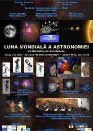 LUNA MONDIALĂ A ASTRONOMIEI - Consiliul Judeţean Gorj