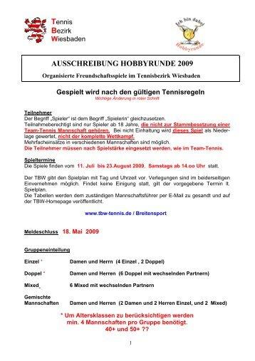 AUSSCHREIBUNG HOBBYRUNDE 2009 - Krifteler Tennisclub e.V.