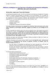 Réflexion stratégique sur les Services et Systèmes ... - Atec/ITS France
