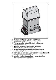 Anleitung für Montage, Betrieb und Wartung Fitting, operating, and ...