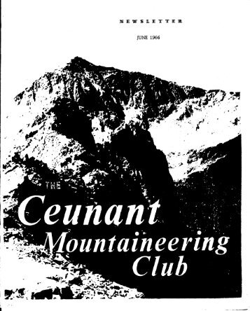 June 1966 - Ceunant Mountaineering Club