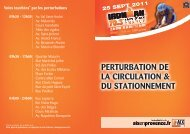 perturbation de la circulation & du stationnement - Aix-en-Provence