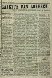 Zondag 28 November 1869. 20.' Jaar N. 1315. Lokeren 27 ...
