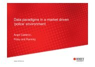 Data paradigms in a market driven 'police' environment - aair