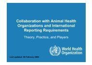 Collaboration with Animal Health Organizations and International ...