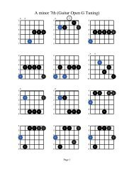 A minor 7th (Guitar Open G Tuning) - Acoustic Fingerstyle Guitar