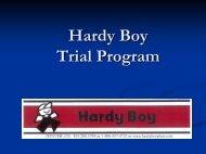 The Hardy Boy Trial Program