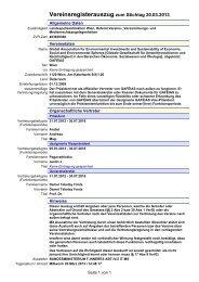 Vereinsregisterauszug zum Stichtag 20.03.2013 - GAFÉIAS