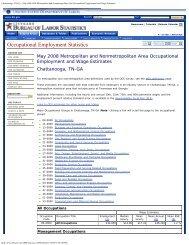 May 2008 OES Metropolitan and Nonmetropolitan Area ...
