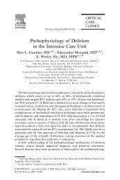 Pathophysiology of Delirium in the Intensive Care Unit - GrG