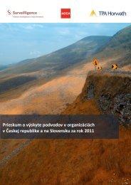 Prieskum o výskyte podvodov v Českej republike a ... - Surveilligence