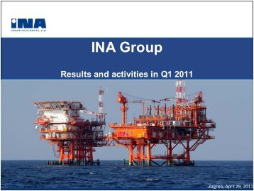 Results and activities in Q1 2011 - Ina