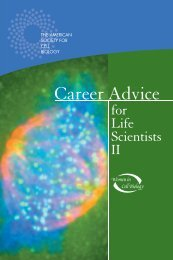 Career Advice for Life Scientists II - American Society for Cell Biology