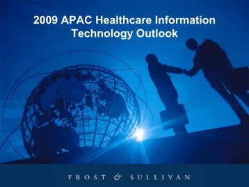2009 APAC Healthcare Information Technology Outlook - Growth ...