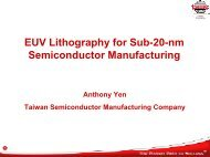 EUV Lithography for Sub-20-nm Semiconductor ... - Sematech
