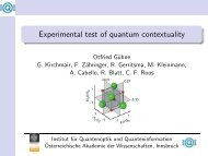 Experimental test of quantum contextuality