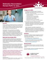 Medication Reconciliation: Revised ROPs for 2014 - Accreditation ...