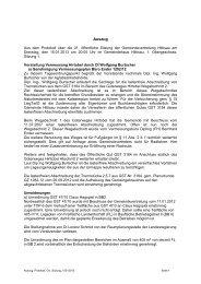 Protokoll vom 15.01.2013 - Hittisau