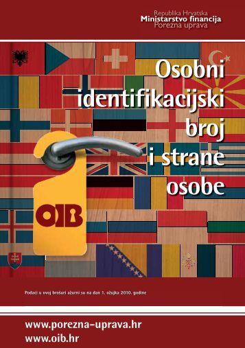Osobni identifikacijski broj i strane osobe - Porezna uprava