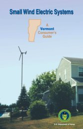 Small Wind Electric Systems: A Vermont Consumer's Guide - NREL
