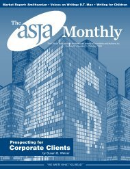 October 2008 - The ASJA Monthly