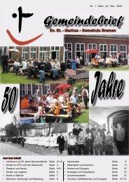 Jahre 50 - der St.-Markus-Gemeinde zu Bremen