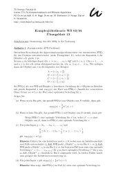 Komplexitätstheorie WS 03/04 ¨Ubungsblatt 13 - Automaten und ...