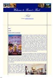 Bown's Best - Grand Hotel Quisisana, Capri, Italy