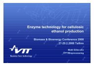 Enzyme technology for cellulosic ethanol production - bioenergybaltic