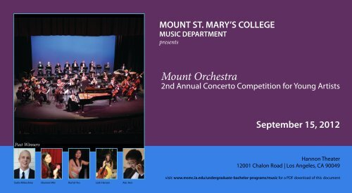 Download Guidelines and Registration Form - Mount St. Mary's ...