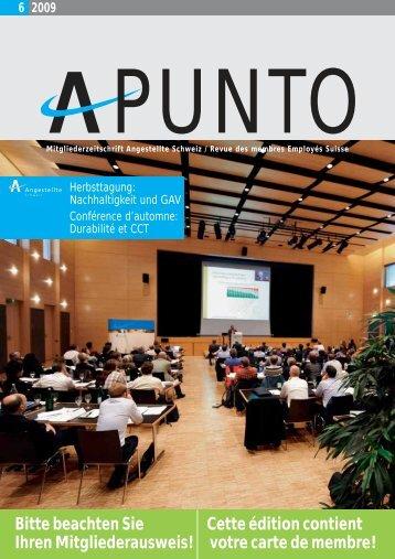 Apunto 6/2009 - Angestellte Schweiz