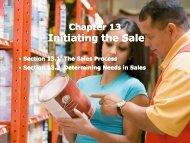 Initiating the Sale Initiating the Sale - iMAG