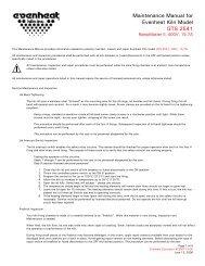 Installation Instructions for Evenheat Kiln Model CE GTS 2541, 400V