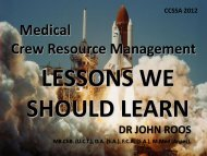 John Roos Crew resource management checklists and ... - CCSSA