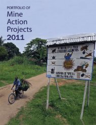 Portfolio of Mine Action Projects 2011 (PDF) - United Nations Mine ...