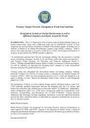 DOT Press Release Iran Sanctions - Frank-CS.org
