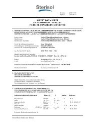 SAFETY DATA SHEET SICHERHEITSDATENBLATT ... - Lysoform.ch