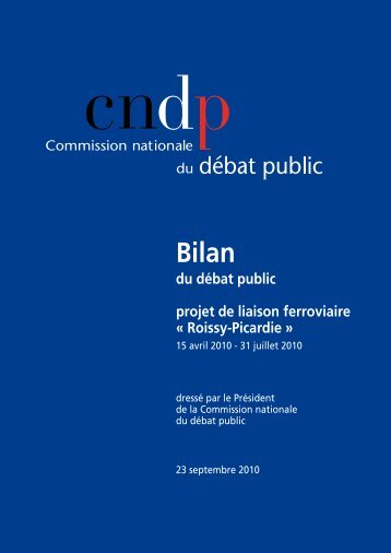 Bilan - Commission nationale du débat public
